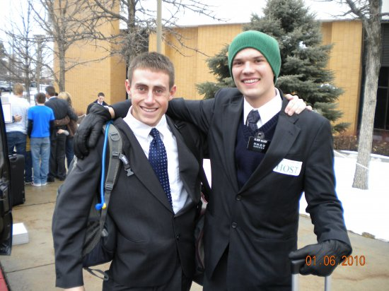 Elder Chase Gluch Hosting Johnny at the MTC ...Blessings already!!