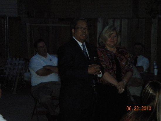 President & Sis Carlos At Elder Hale's home