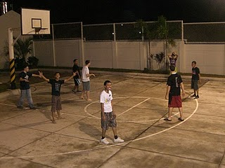 New Years Eve - playing some Ball