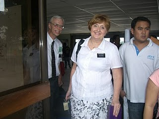 Elder and Sister Russell arrive. They will be overseeing the appartements in the Cauayan Mission