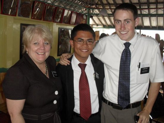 Elder Hale with Sister Carlos and Elder Apin