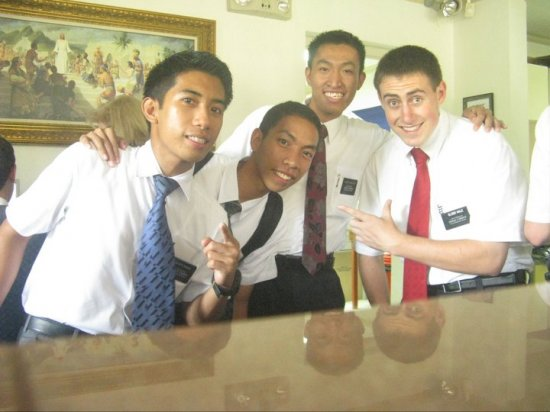 Elder Hale with Fillipino Missionary Friends