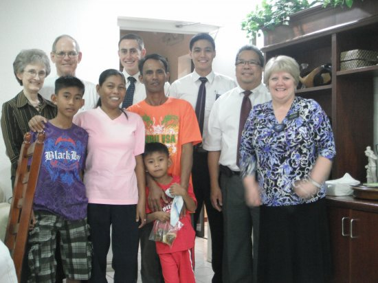 The Gamit Family with Elder and Sister Edwards (Area Presidency) and President and Sister Carlos