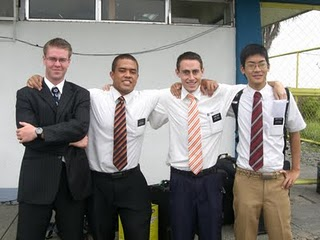 Elders Katoa & Hale with the 2 missionaries going home ...flying out of Cauayan!!!