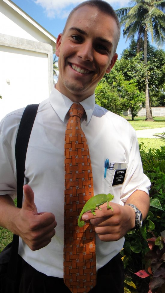 Elder Miller with Chameleon