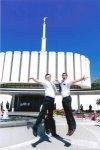 Me with Elder Bardinski from Australia.