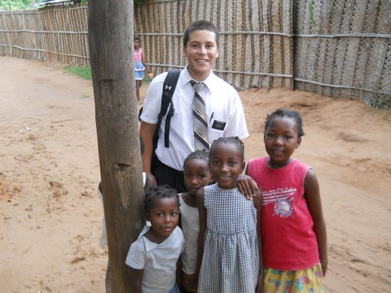 Elder Astle with his friends