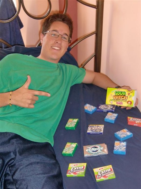 Nate Loves those Sour Patch Kids... and Gum